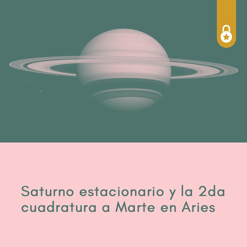 Saturno estacionario