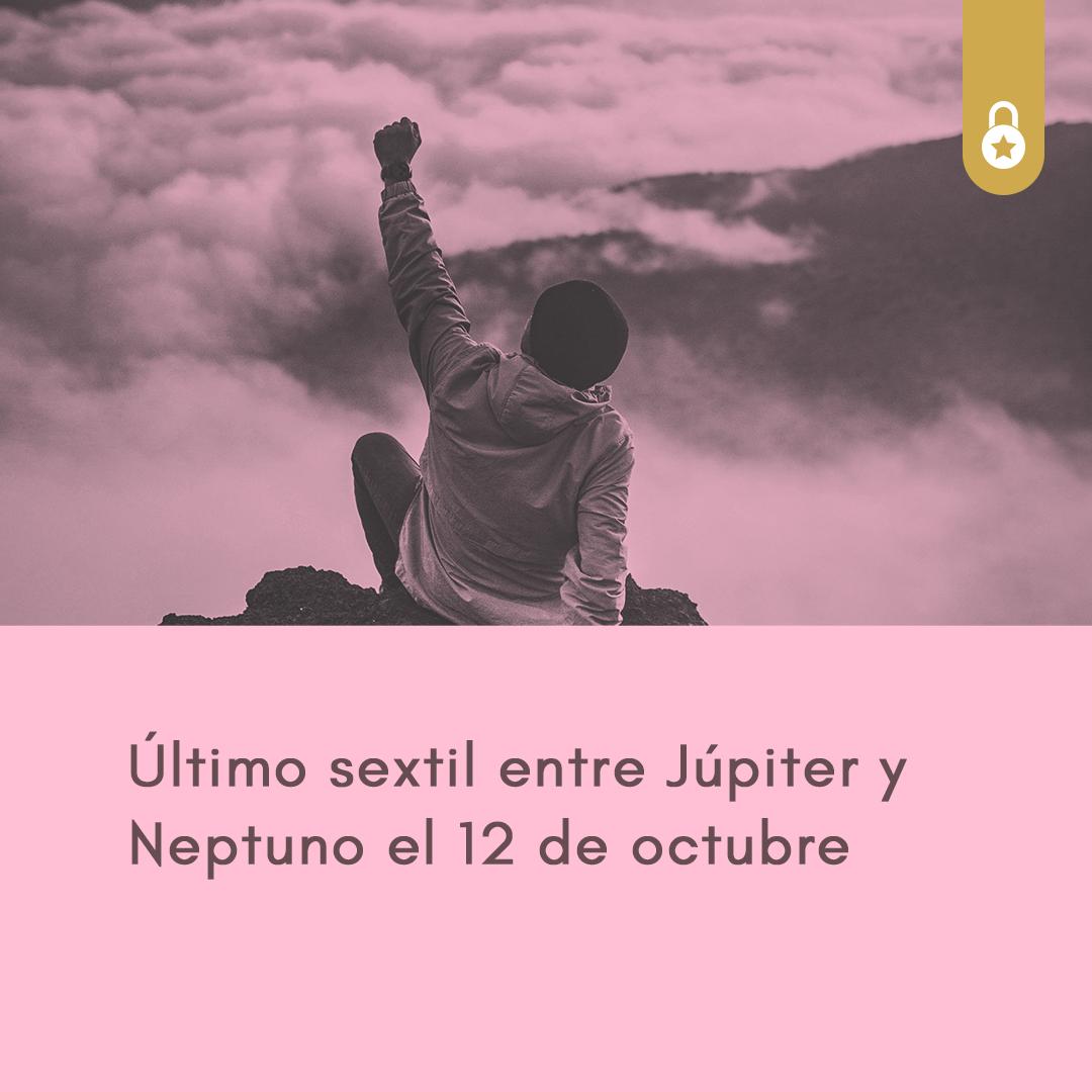 Último sextil entre Júpiter y Neptuno