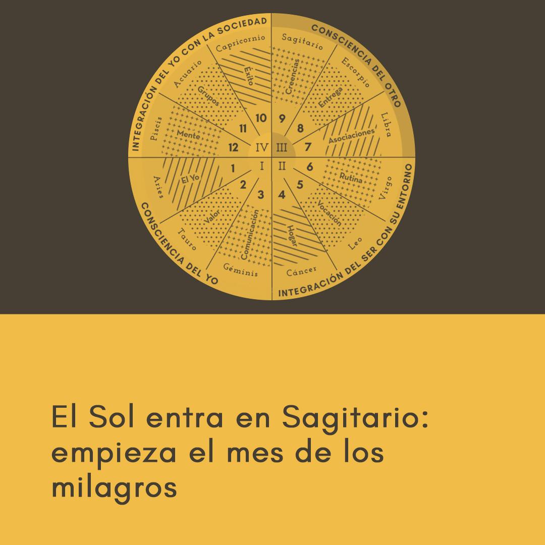 El Sol entra en Sagitario: empieza el mes de los milagros