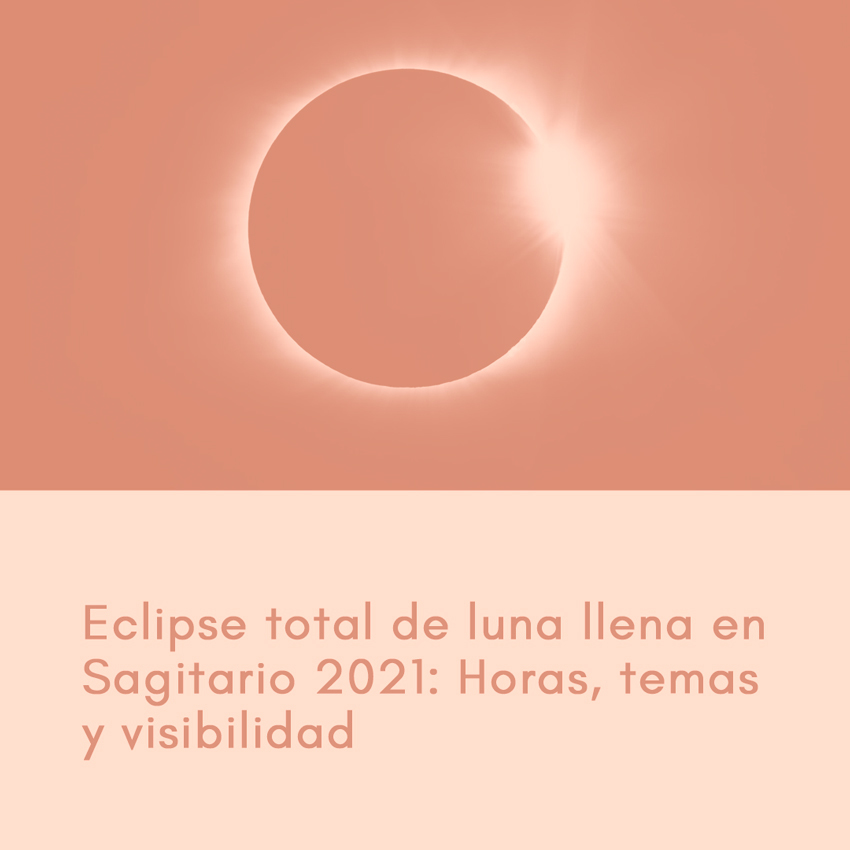 Eclipse total de luna llena en Sagitario