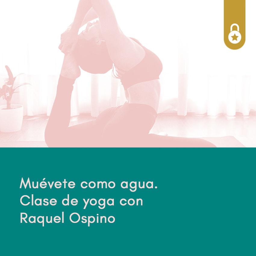 Clase de yoga con Raquel Ospino
